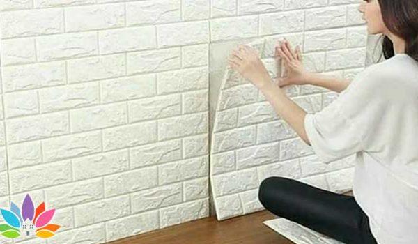دیوارپوش طرح آجر سفید